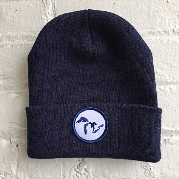 Great Lakes Patch Knit Beanie - City Bird