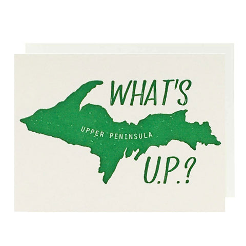 What's U.P.? Letterpress Card