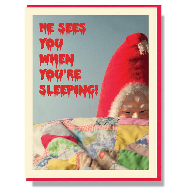 When You're Sleeping - Creepy Santa Christmas Card