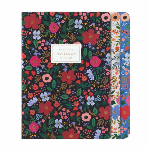 Assorted Set of 3 Wild Rose Notebook