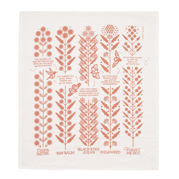 Tea Towel - Wildflower - City Bird
