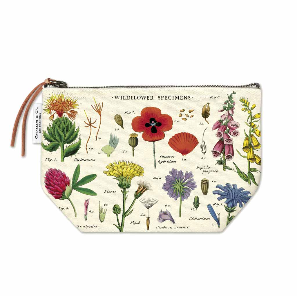 Wildflowers Vintage Pouch - City Bird