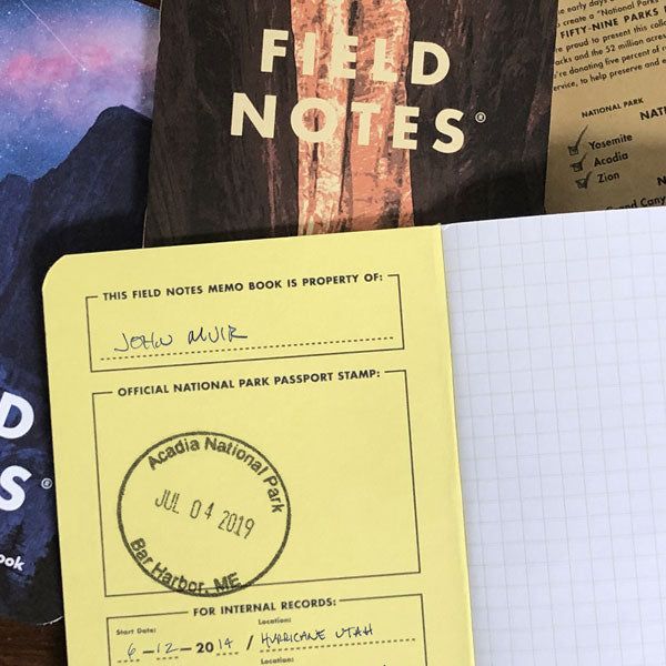 National Parks Notebooks - Grand Canyon, Joshua Tree, Mt. Ranier