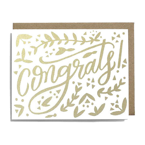 Congrats Silkscreened Card - City Bird