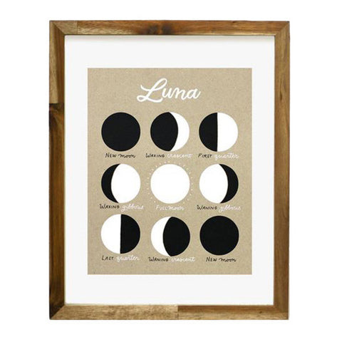 "Luna Phases of the Moon 8""x10"" Art Print"