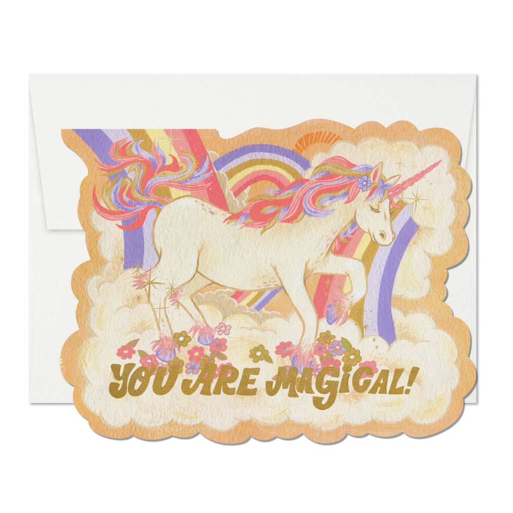 Magical Unicorn Die Cut Foil Love Card - City Bird