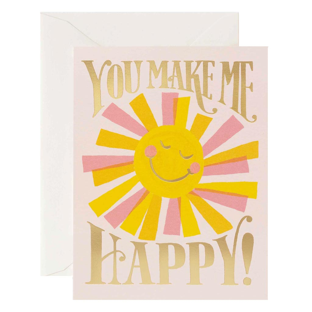 You Make Me Happy Card - City Bird