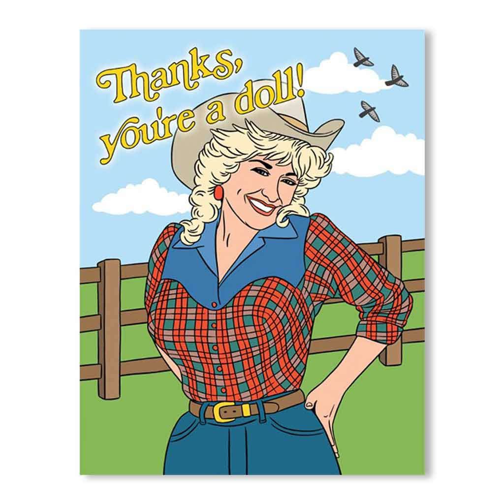 Thanks You're A Doll Card - City Bird