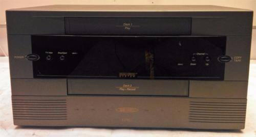Go Video GV-6060 Dual Deck VCR VHS Player Recorder Duplicator - CSExpress