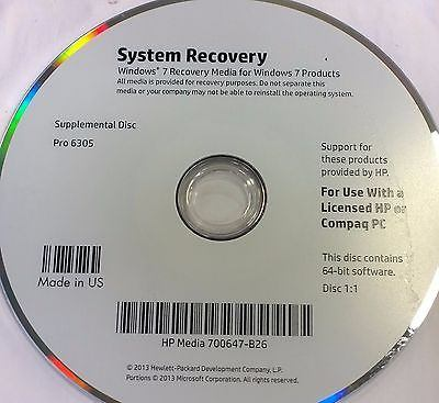HP System Recovery/Repair CD Set with OS Software and HP Protect - CSExpress