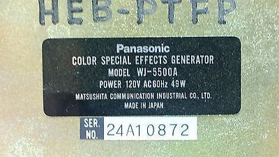 Panasonic WJ-5500A Color Special Effects Generator - CSExpress