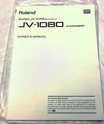 Roland JV-1080 Synthesizer Owners Manual and Quick Start Guide - CSExpress