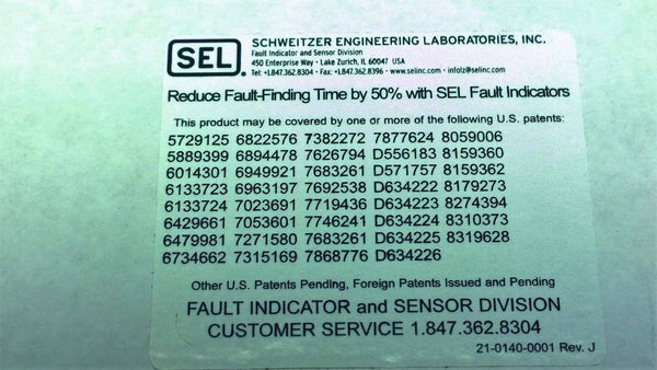 New (NIB) SEL BTRI_IR Beacon Auto Ranging Fault Locator - CSExpress
