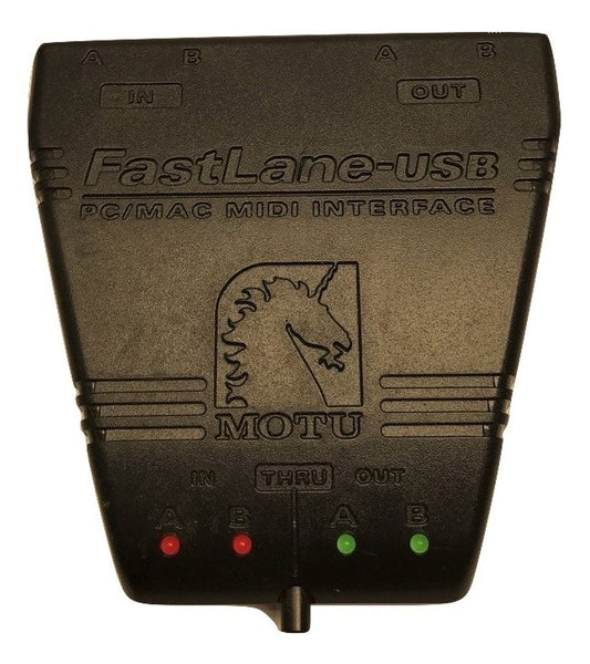FastLane USB is a 2-in/2-out MIDI interface with MIDI Thru - CSExpress