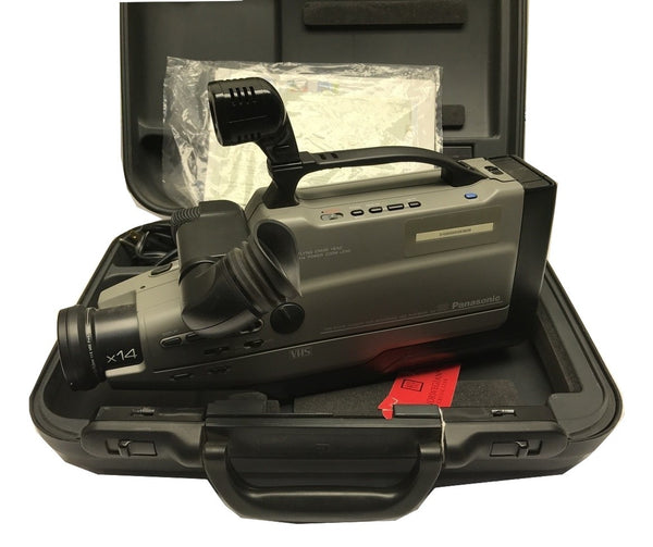 PANASONIC AG-188 PROLINE VHS REPORTER VIDEO CAMERA WITH POWER ADAPTER & CASE - CSExpress