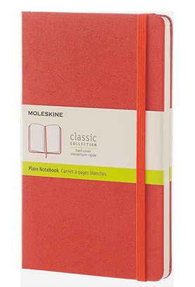 Moleskine Plain Large Hardcover Notebook