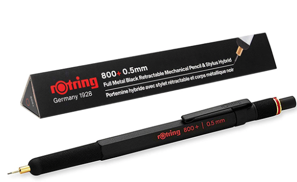 Rotring 800+ 0.5mm Mechanical Pencil + Stylus Hybrid