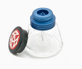 Front view of TWSBI Diamond Ink Bottle 50 mL Blue