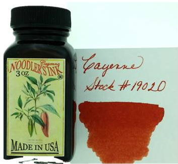 Noodler's Cayenne Bottled Ink