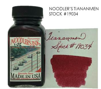 Noodler's Tiananmen Bottled Ink