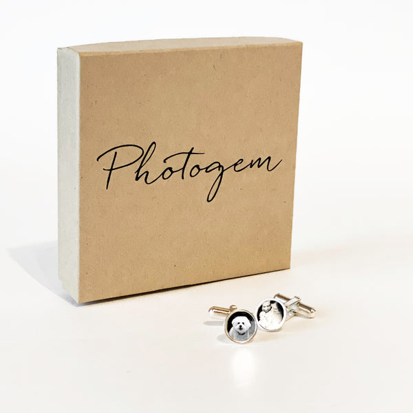 Teeny Tiny Cufflinks in Sterling Silver