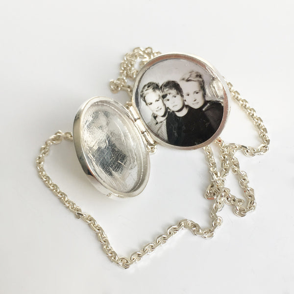 Photogem Memorial Jewellery 16mm Personalised Locket Necklace