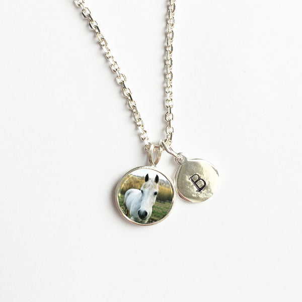 Photogem Jewellery Teeny Tiny Sterling Silver Necklace with Stamped Initial