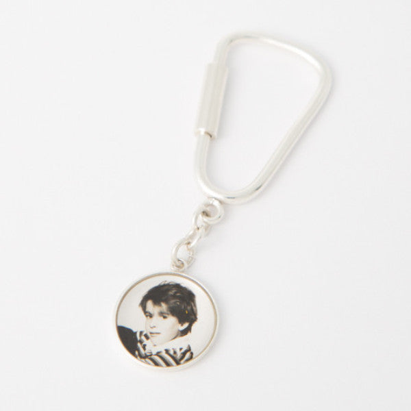 Sterling Silver 15mm Photogem Memorial Keyring