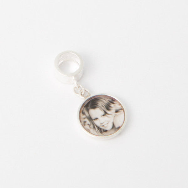 Dangle Memorial Photo Charm (suitable for a Pandora style bracelet)