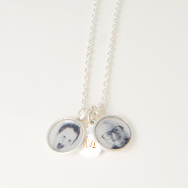 Extra 10mm sterling silver Photogem and tag to create a cluster.