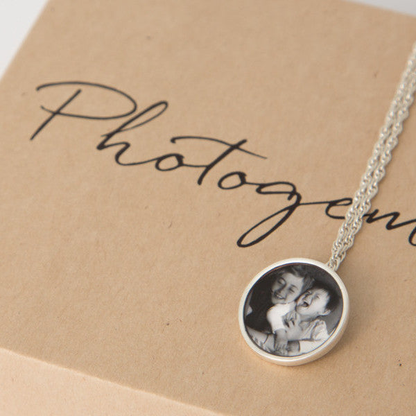 Sterling silver 16mm Photogem necklace