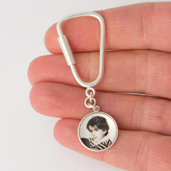 Sterling Silver 15mm Photogem Keyring