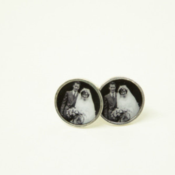 Sterling Silver 16mm Photogem Memorial Cufflinks