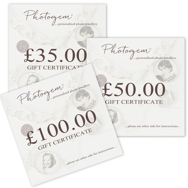 Gift Certificates for Photogem Memorial Jewellery