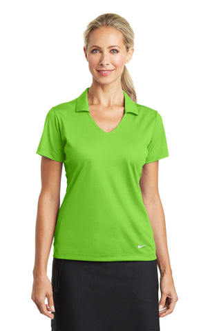 Nike Golf Ladies Dri-FIT Vertical Mesh Polo. 637165, Ladies, Nike ThreadedLogo