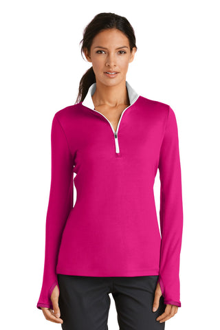 Nike Golf Ladies Dri-FIT Stretch 1/2-Zip Cover-Up. 779796, Ladies, Nike ThreadedLogo
