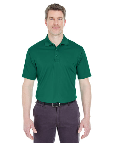 UltraClub Performance Interlock Polo, , threadedlogo ThreadedLogo