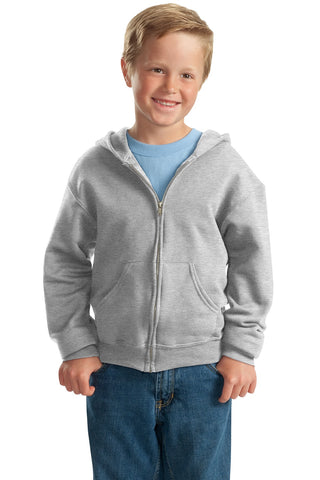 JERZEES Youth NuBlend Full-Zip Hooded Sweatshirt - ThreadedLogo