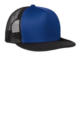 District Flat Bill Snapback Trucker - ThreadedLogo