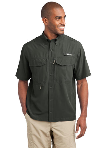 Eddie Bauer Short Sleeve Performance Fishing shirt - ThreadedLogo