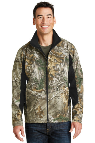 Port Authority¬ Camouflage Colorblock Soft Shell. J318C, Outerwear, Port Authority ThreadedLogo
