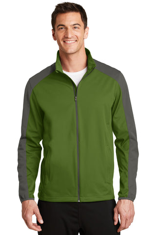 Port Authority¬ Active Colorblock Soft Shell Jacket. J718, Outerwear, Port Authority ThreadedLogo