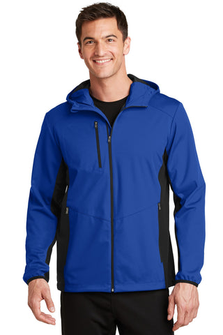 Port Authority¬ Active Hooded Soft Shell Jacket., Outerwear, Port Authority ThreadedLogo