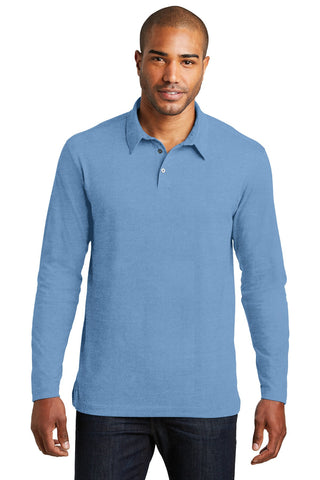Port Authority¬ Long Sleeve Meridian Cotton Blend Polo. K577LS, Polos/Knits, Port Authority ThreadedLogo