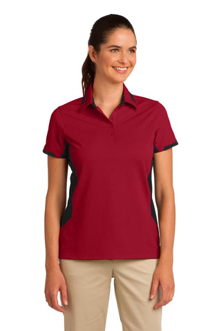 Port Authority Ladies Dry Zone Colorblock Ottoman Polo., Ladies, Port Authority ThreadedLogo