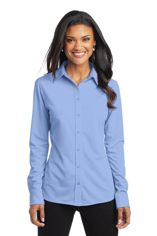 Port Authority Ladies Dimension Knit Dress Shirt., Ladies, Port Authority ThreadedLogo