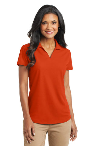 Port Authority Ladies Dry Zone Grid Polo., Ladies, Port Authority ThreadedLogo