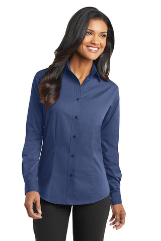 Port Authority Ladies Tonal Pattern Easy Care Shirt. L613, Ladies, Port Authority ThreadedLogo