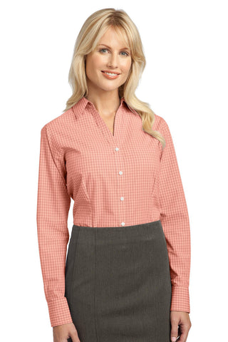 Port Authority Ladies Plaid Pattern Easy Care Shirt., Ladies, Port Authority ThreadedLogo