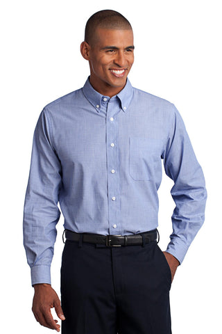 Port Authority¬ Crosshatch Easy Care Shirt. S640, Woven Shirts, Port Authority ThreadedLogo